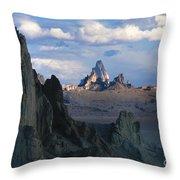 Sunrise On Church Rock  Throw Pillow by Sandra Bronstein