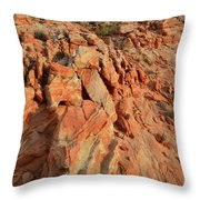 Sunrise On Colorful Sandstone In Valley Of Fire Throw Pillow