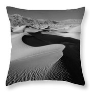 2a6856-bw-sunrise On Death Valley  Throw Pillow
