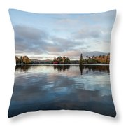 Sunrise On Fourth Lake Throw Pillow