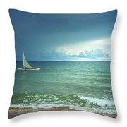 Sunrise On Indian Ocean Throw Pillow