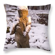 Sunrise On Lady Of The Snow Throw Pillow