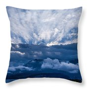 Sunrise On Lake Annecy Throw Pillow