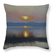 Sunrise On Lake Hollingsworth Throw Pillow
