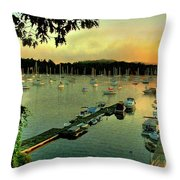 Sunrise On Mallet's Bay Throw Pillow