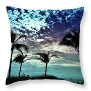Sunrise On Miami Beach Throw Pillow