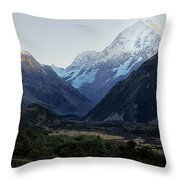 Sunrise On Mt. Cook Throw Pillow