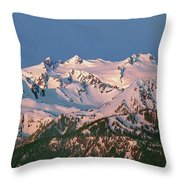 1m4120-sunrise On Mt. Olympus  Throw Pillow
