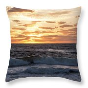 Sunrise On Pompano Beach Pompano Florida Throw Pillow