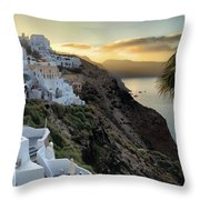 Sunrise On Santorini Throw Pillow
