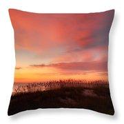 Sunrise On The Atlantic Ocean Throw Pillow