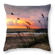 Sunrise On The Beach 02 Throw Pillow
