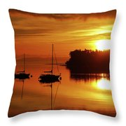 Sunrise On The Cove Throw Pillow