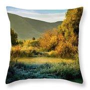 Sunrise On The Duck Marsh Throw Pillow
