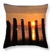 Sunrise On The Dunes Throw Pillow