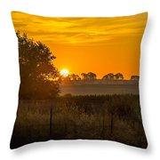 Sunrise On The Farm Throw Pillow