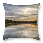 Sunrise On The Flats Throw Pillow
