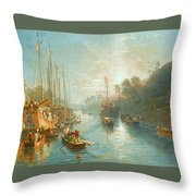 Sunrise On The Grand Canal Throw Pillow
