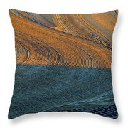 Sunrise On The Groomed Beach  Throw Pillow