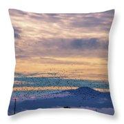 Sunrise On The Highway Throw Pillow