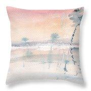 Sunrise On The Lagoon Ccxv Throw Pillow
