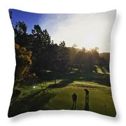 Sunrise On The Links Throw Pillow