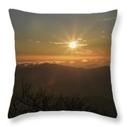 Sunrise On The Mountain Throw Pillow