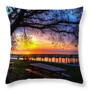 Sunrise On The Neuse Throw Pillow