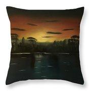 Sunrise On The Nile  Throw Pillow