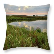 Sunrise On The Nippersink Throw Pillow