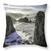 Sunrise On The Pacific Coast Throw Pillow