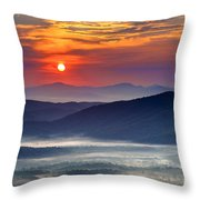 Sunrise On The Parkway. Throw Pillow