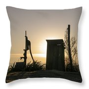 Sunrise On The Past Throw Pillow