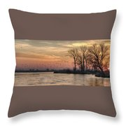 Sunrise On The Platte Throw Pillow