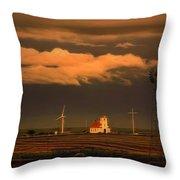 Sunrise On The Prairie Throw Pillow
