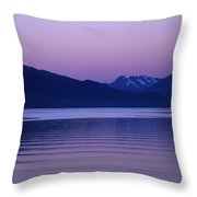 Sunrise On The Prince William Sound Throw Pillow