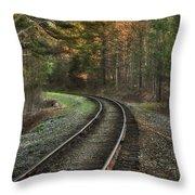 Sunrise On The Rails Throw Pillow