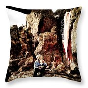 Sunrise Or Sunset Throw Pillow
