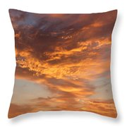 Sunrise Orange Sky, Willamette National Forest, Oregon Throw Pillow