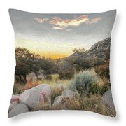 Sunrise, Organ Moutains Throw Pillow