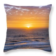 Sunrise Over Atlantic Ocean Throw Pillow