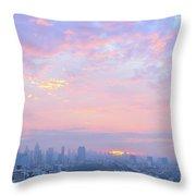 Sunrise Over Bangkok Throw Pillow