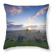 Sunrise Over Beaghmore Stone Circles Throw Pillow