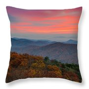 Sunrise Over Blue Ridge Parkway. Throw Pillow