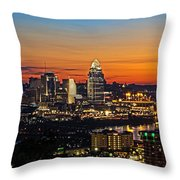 Sunrise Over Cincinnati Throw Pillow