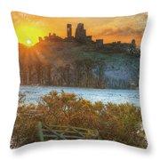 Sunrise Over Corfe Throw Pillow