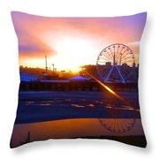 Sunrise Over Del Mar Fair Throw Pillow