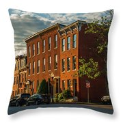 Sunrise Over Federal Hill Throw Pillow