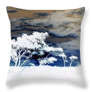 Sunrise Over Fort Salonga In Negative Throw Pillow