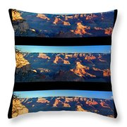 Sunrise Over Grand Canyon Throw Pillow